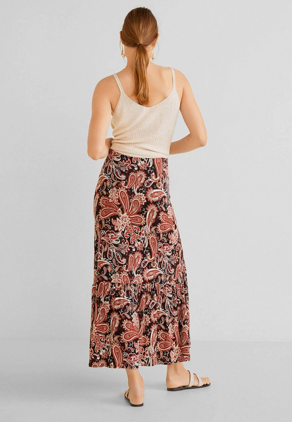 Фото 3 - женскую юбку Mango разноцветного цвета