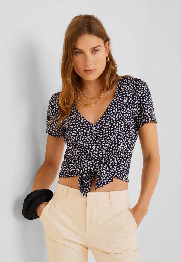 Купить женскую блузку Mango синего цвета