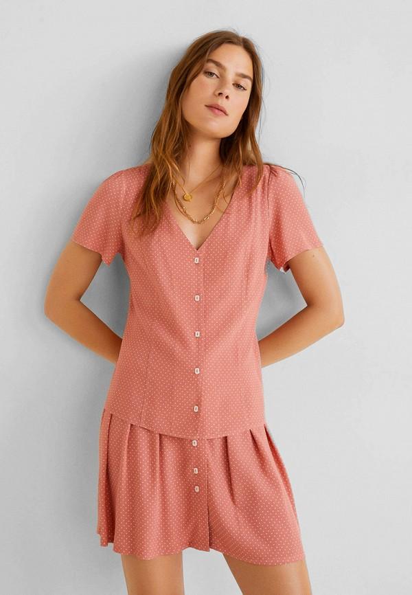 Купить женскую блузку Mango розового цвета