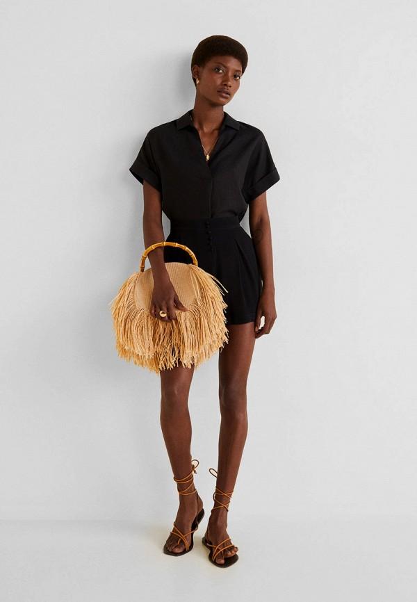 Фото 2 - женские шорты Mango черного цвета