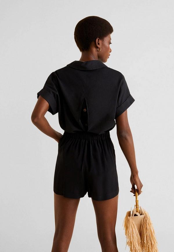 Фото 3 - женские шорты Mango черного цвета