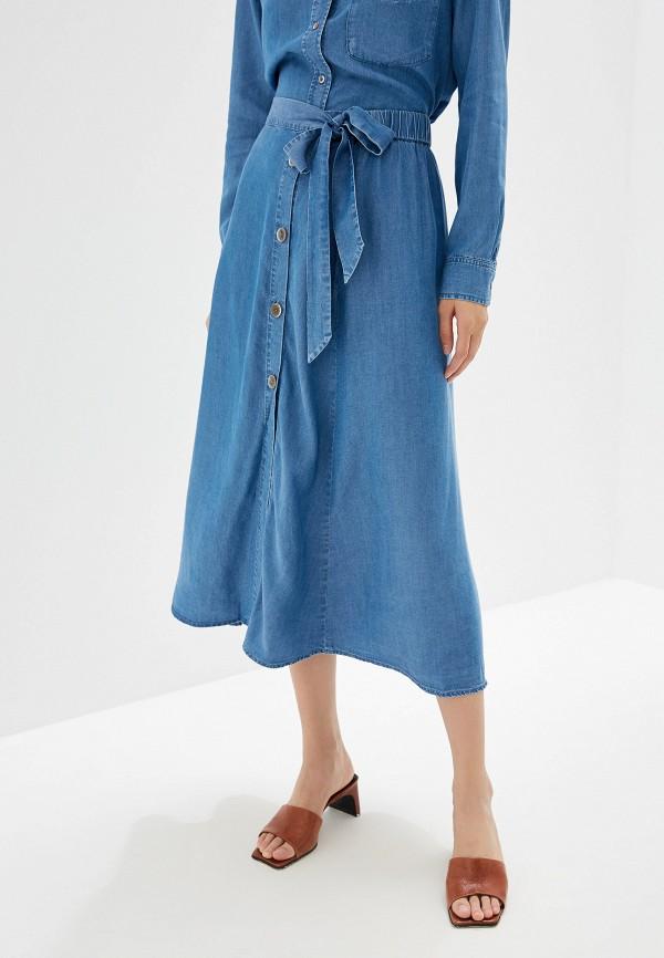 Купить женскую юбку Mango синего цвета