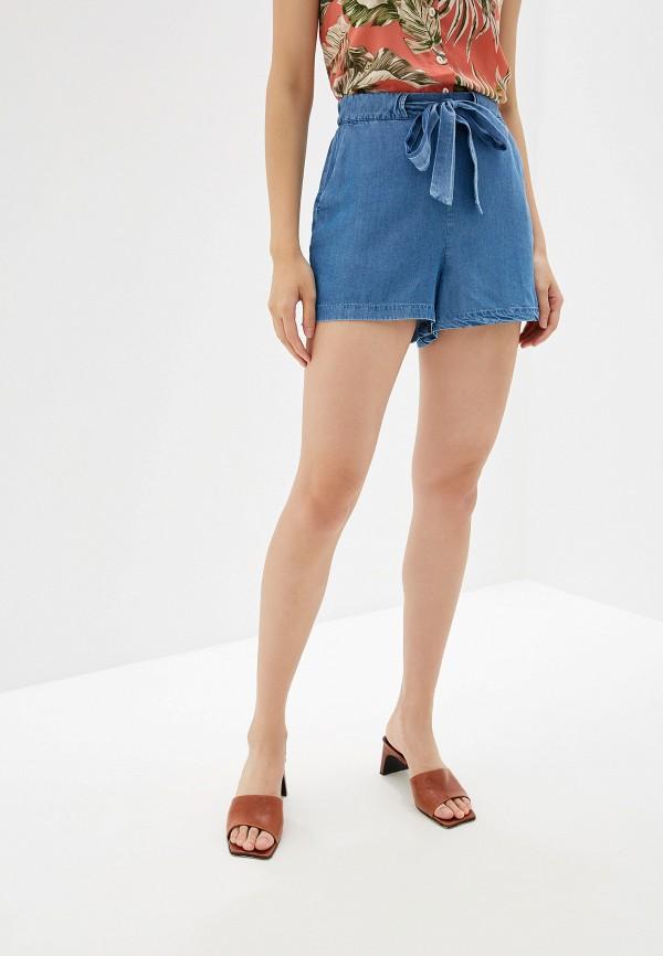 женские повседневные шорты mango, голубые