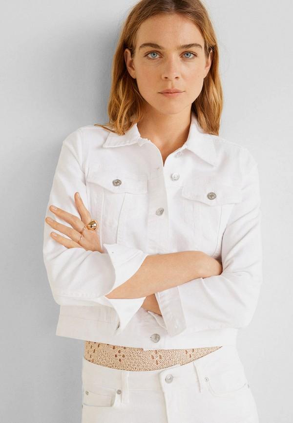 Купить Куртку джинсовая Mango белого цвета