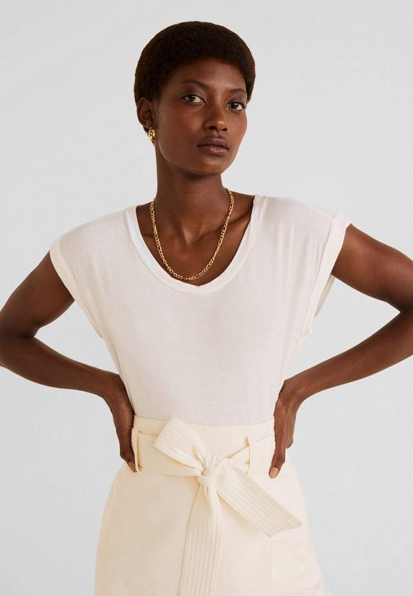 Купить женскую футболку Mango белого цвета