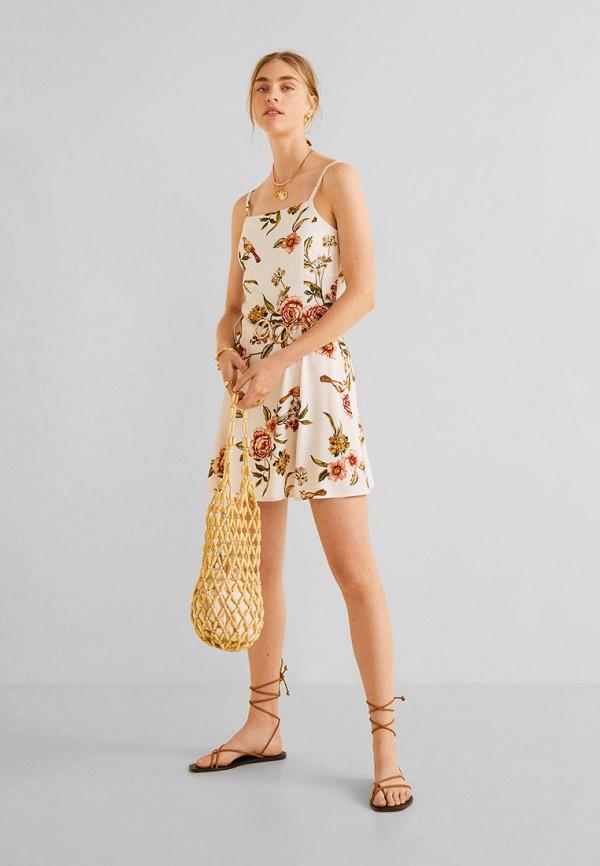 Купить женское платье Mango белого цвета