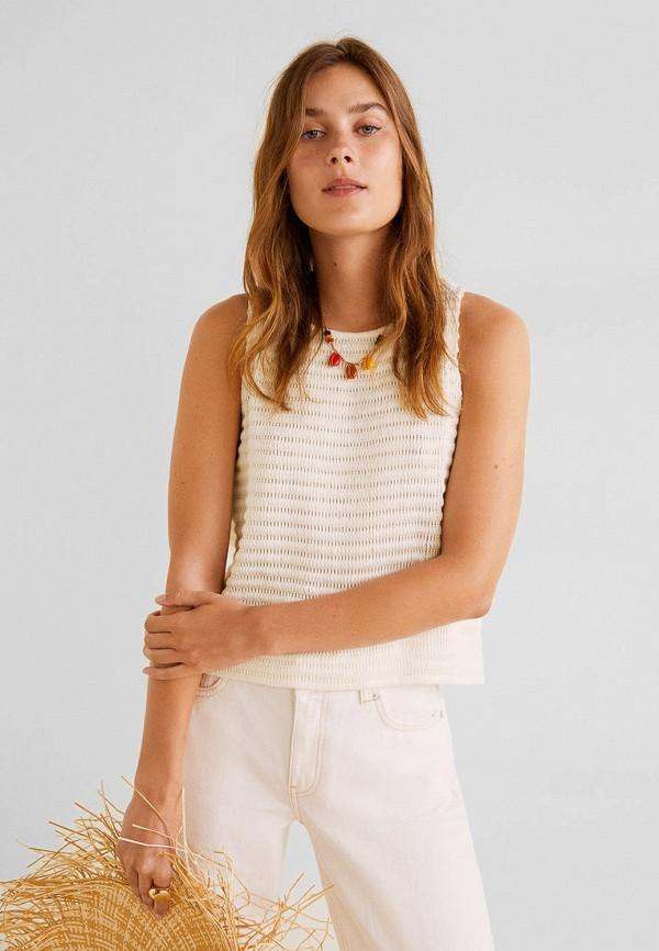 Купить женский топ Mango белого цвета