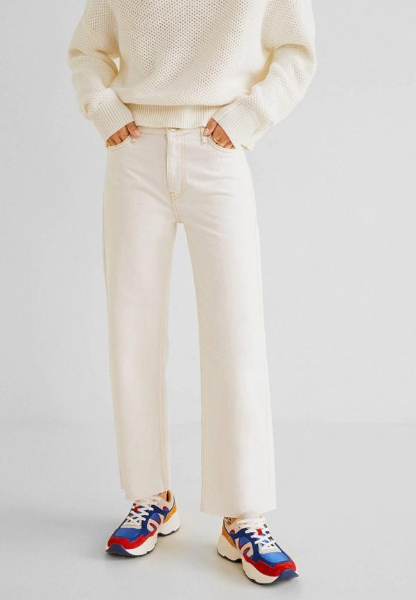 Купить женские джинсы Mango белого цвета