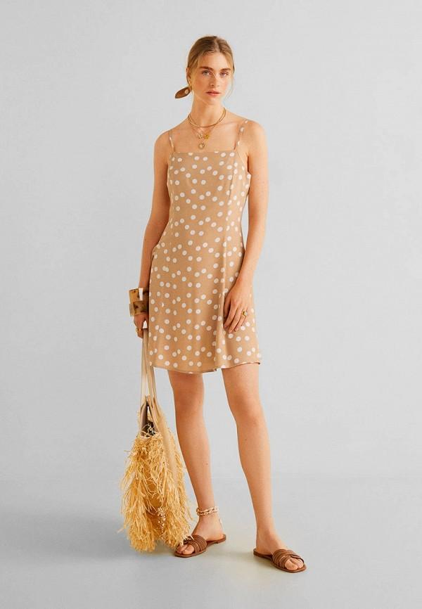 Купить женское платье Mango бежевого цвета