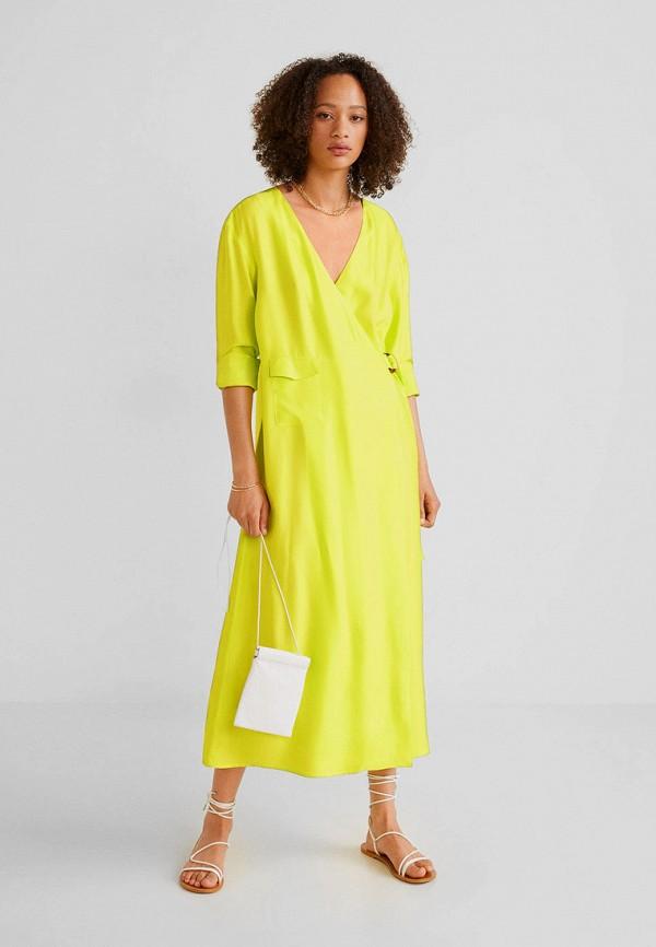 Купить женское платье Mango желтого цвета
