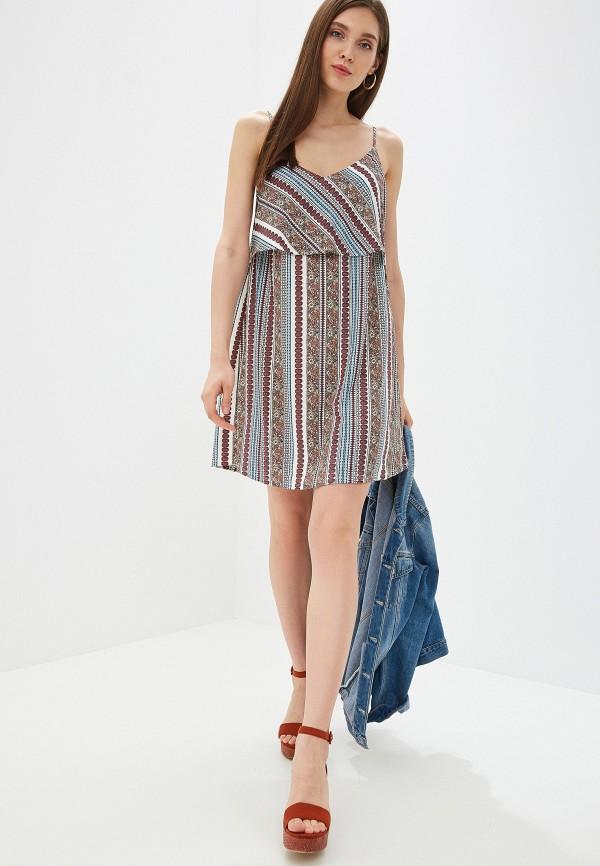 Фото 2 - женское платье Mango разноцветного цвета