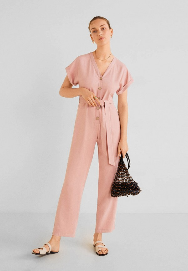 Фото - женский комбинезон Mango розового цвета