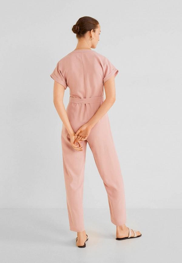 Фото 2 - женский комбинезон Mango розового цвета