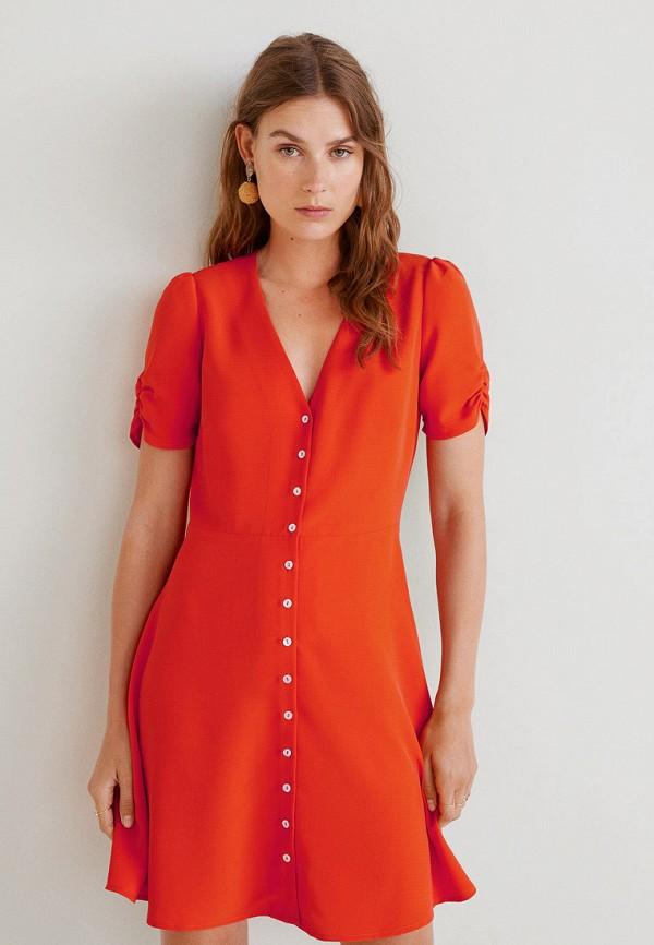 Фото - женское платье Mango красного цвета