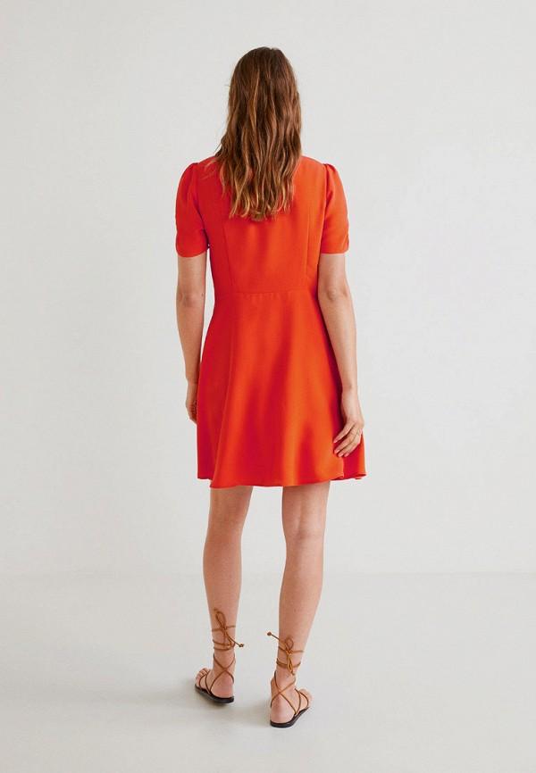 Фото 3 - женское платье Mango красного цвета