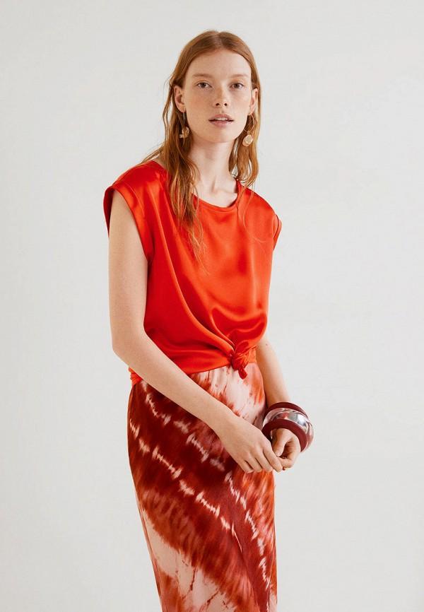Фото - женскую футболку Mango красного цвета