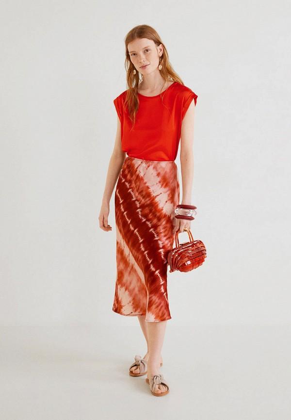 Фото 2 - женскую футболку Mango красного цвета