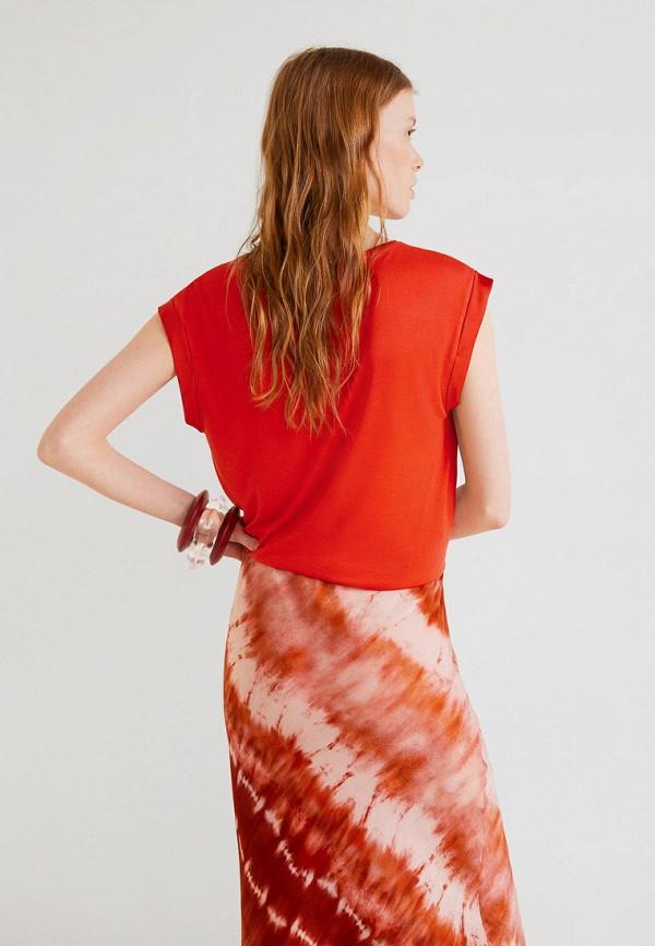 Фото 3 - женскую футболку Mango красного цвета