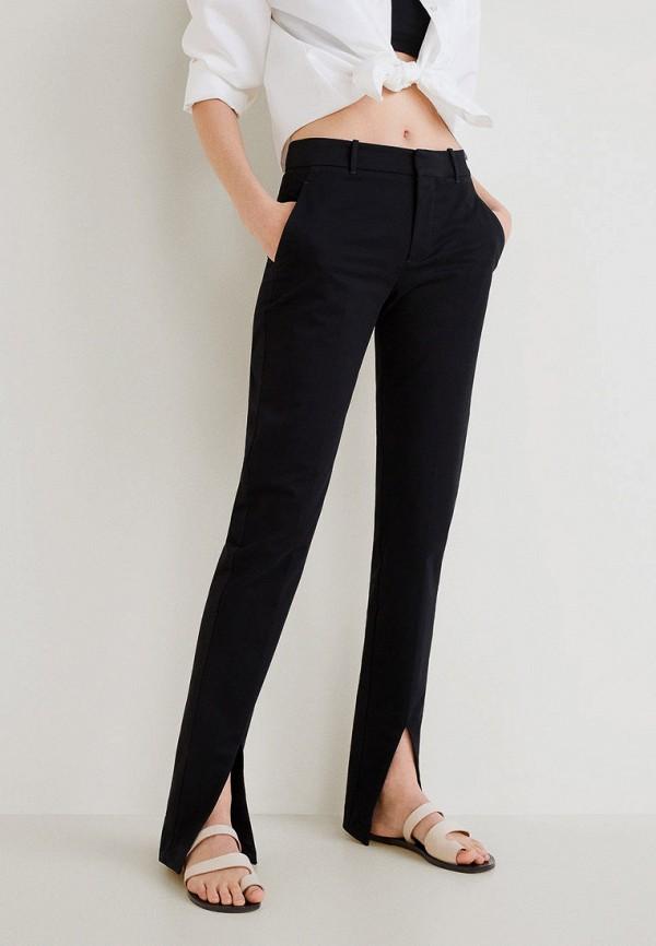 Купить женские брюки Mango черного цвета