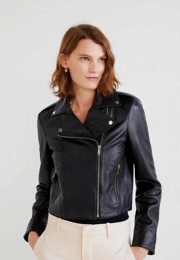 Купить Куртку кожаная Mango черного цвета