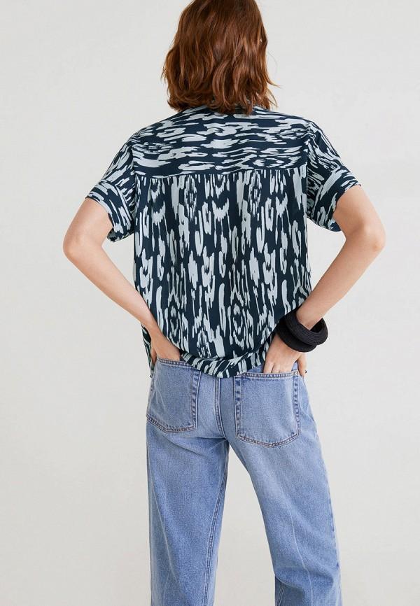 Фото 3 - женскую блузку Mango синего цвета