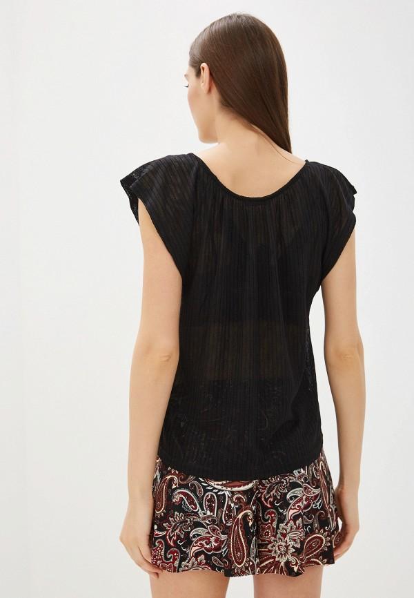Фото 3 - женскую футболку Mango черного цвета