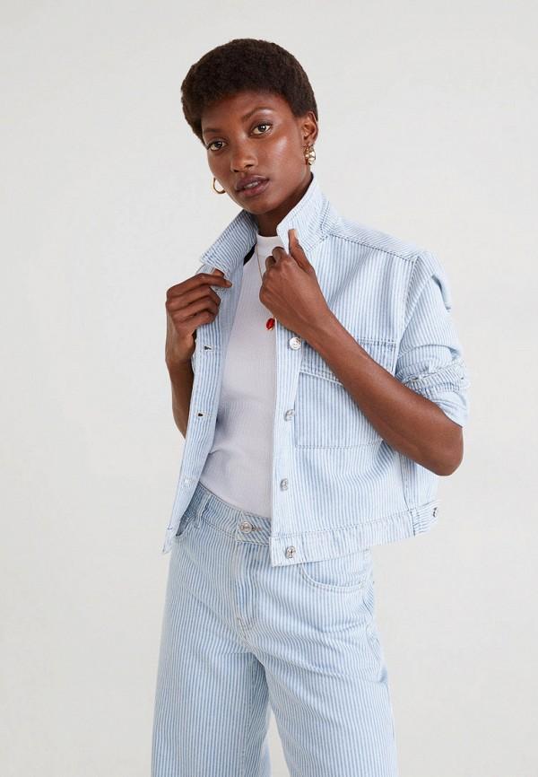 женская куртка mango, голубая