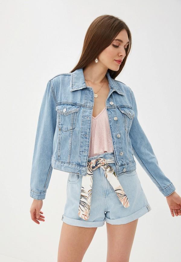 женская джинсовые куртка mango, голубая