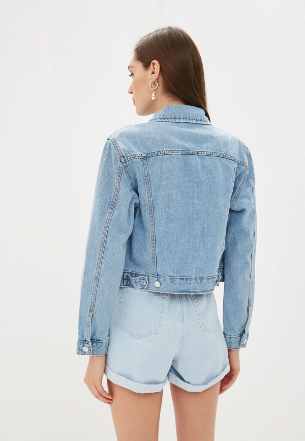 Фото 3 - Куртку джинсовая Mango голубого цвета