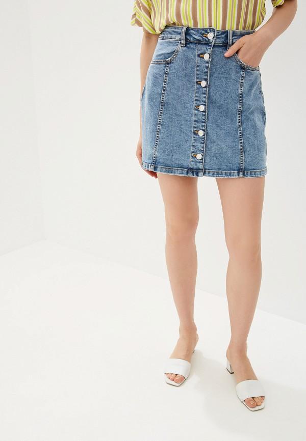 Фото - Юбку джинсовая Mango синего цвета