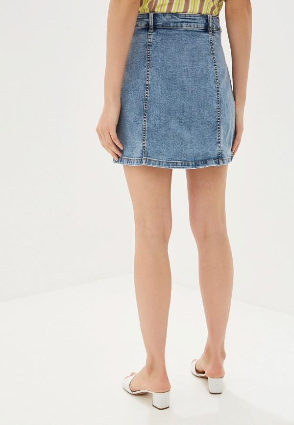 Фото 3 - Юбку джинсовая Mango синего цвета