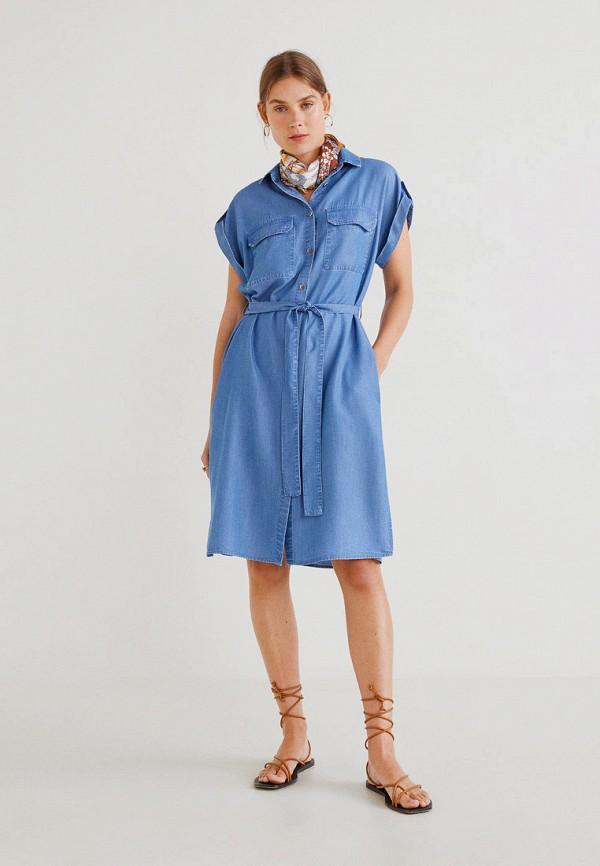 цена Платье джинсовое Mango Mango MA002EWFQJR8 онлайн в 2017 году