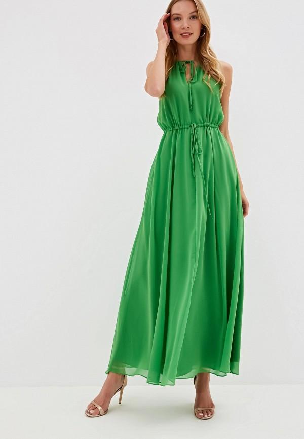 Фото - Женское вечернее платье Mango зеленого цвета