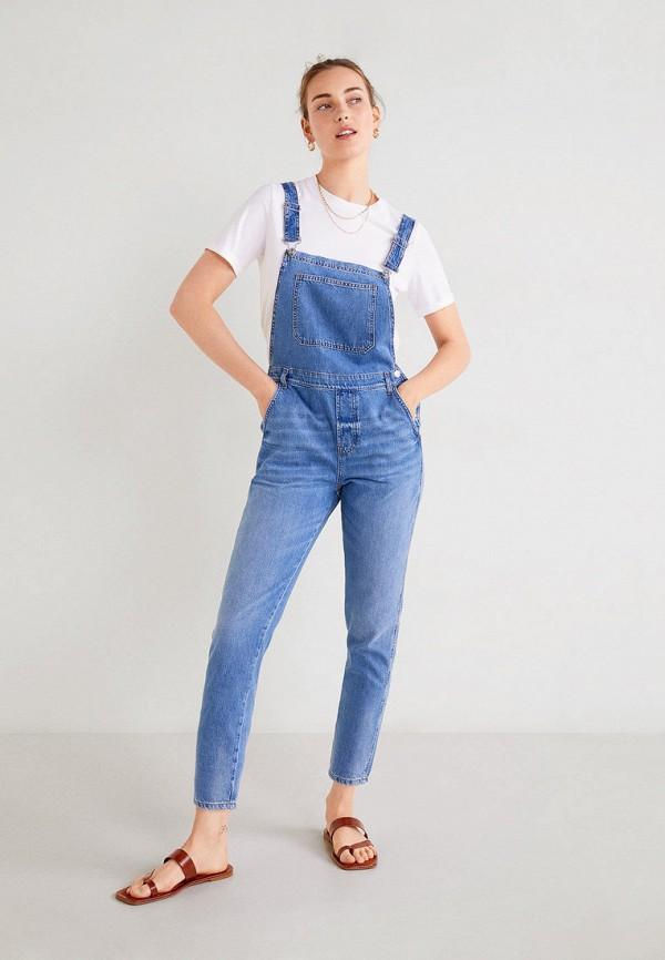 женский джинсовые комбинезон mango, синий