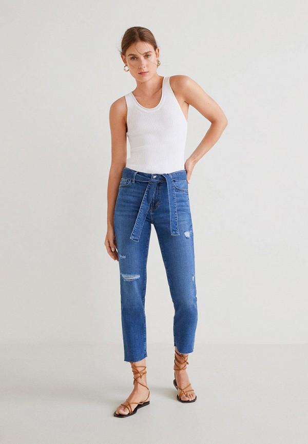 Фото 2 - женские джинсы Mango синего цвета