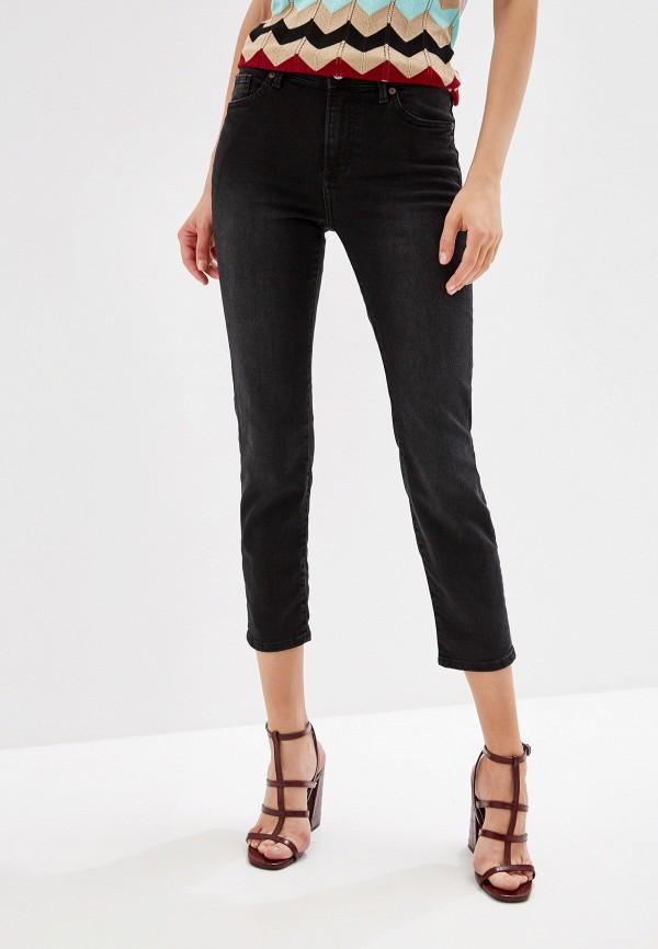 женские прямые джинсы mango, черные