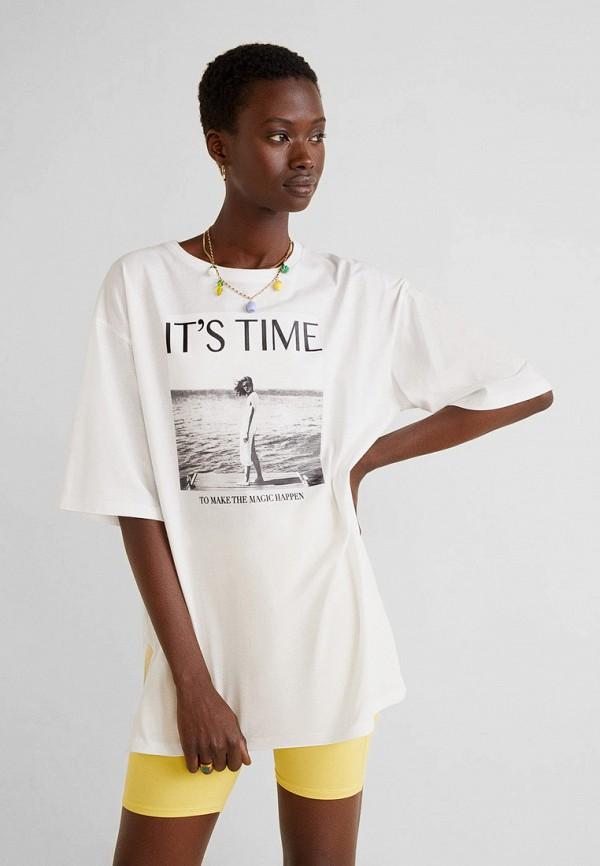 Фото - женскую футболку Mango белого цвета