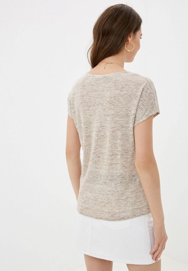 Фото 3 - Женскую футболку Mango коричневого цвета