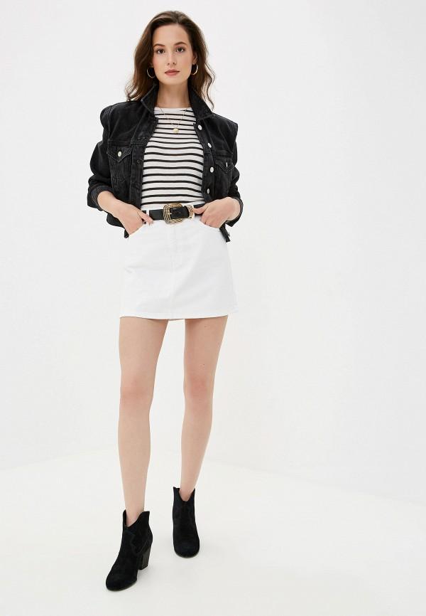 Фото 2 - Куртку джинсовая Mango черного цвета