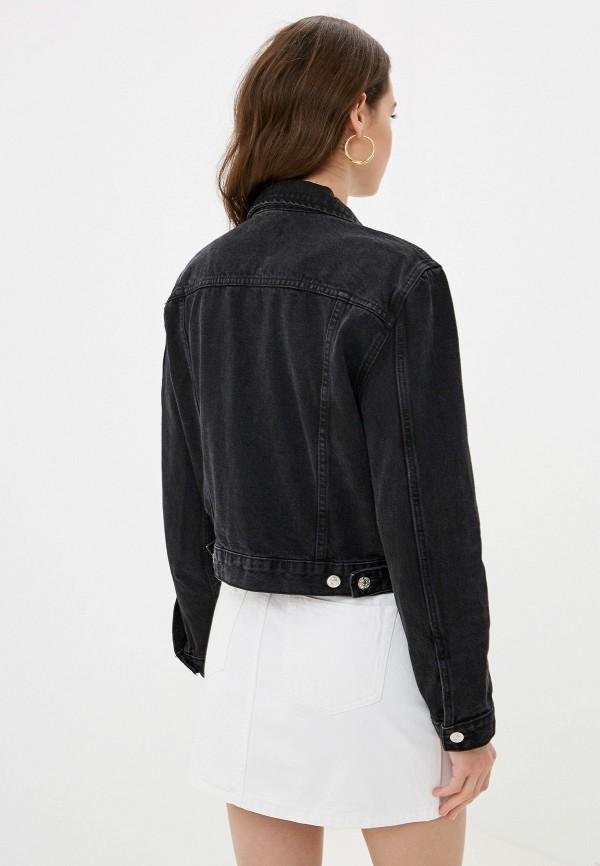 Фото 3 - Куртку джинсовая Mango черного цвета
