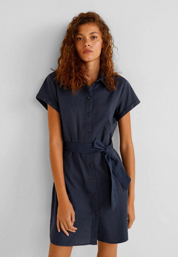 Фото - женское платье Mango синего цвета