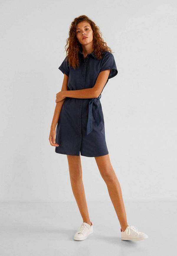 Фото 2 - женское платье Mango синего цвета
