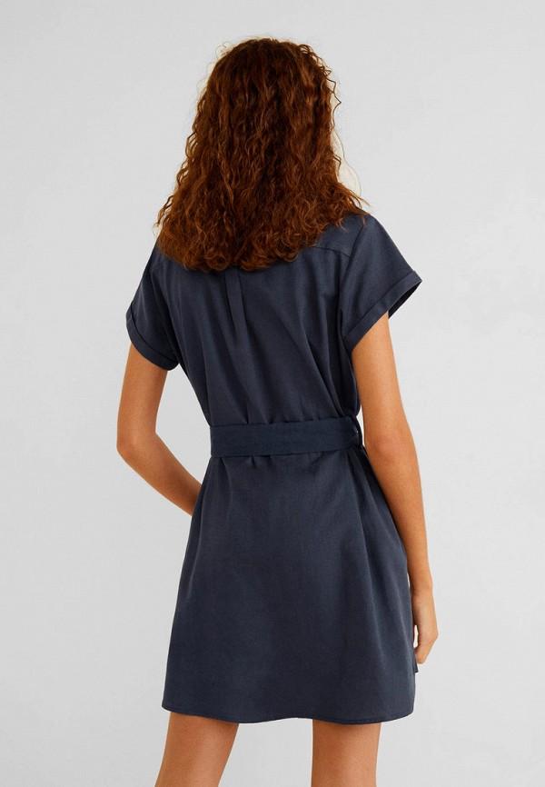 Фото 3 - женское платье Mango синего цвета