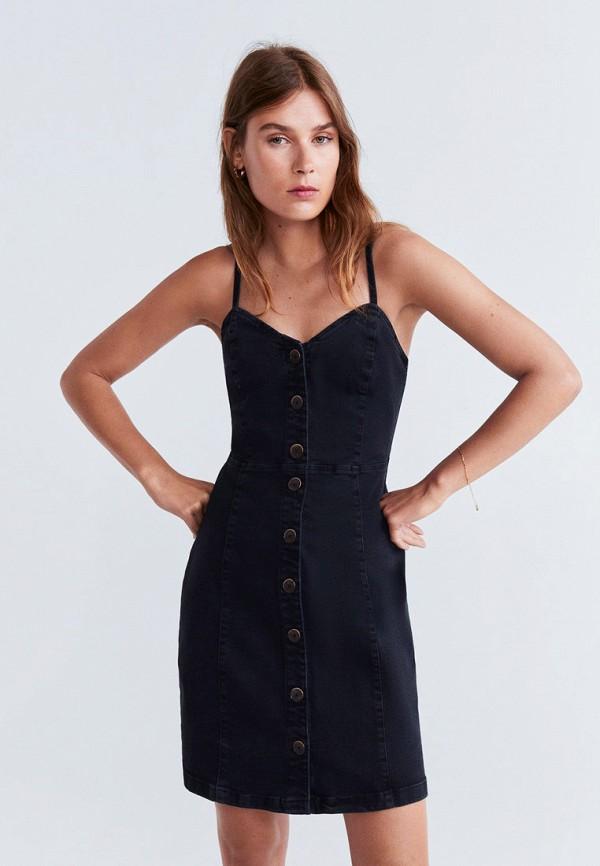 Фото - Платье джинсовое Mango черного цвета