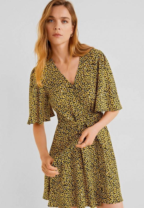 Фото - Женское платье Mango желтого цвета