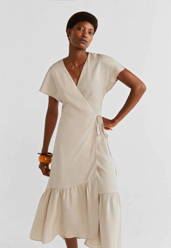 Фото - Женское платье Mango бежевого цвета