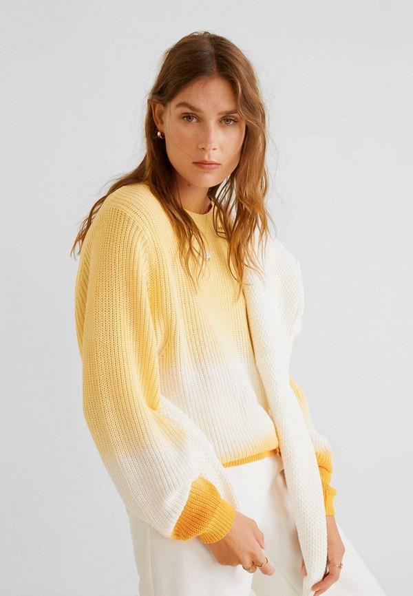 Фото - Женский джемпер Mango желтого цвета