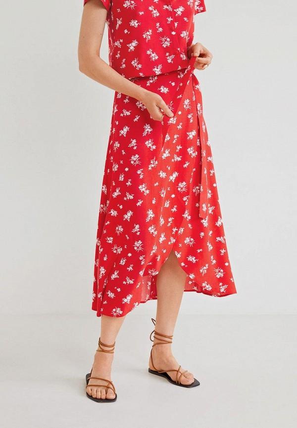 женская юбка mango, красная