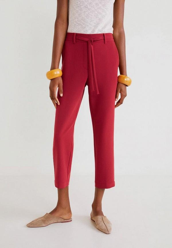 женские повседневные брюки mango, красные