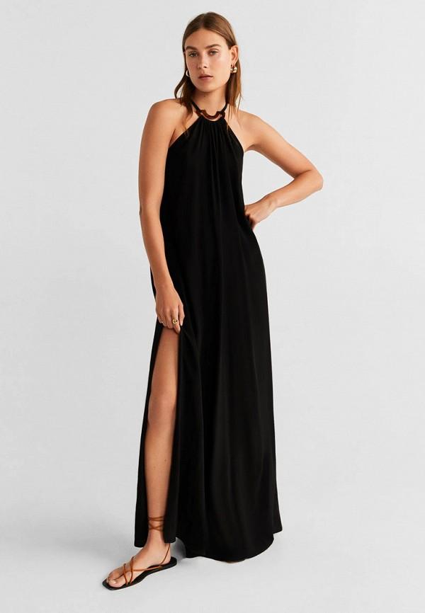 Фото - Женское вечернее платье Mango черного цвета